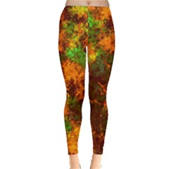 Squiggly Abstract F Leggings  by MoreColorsinLife