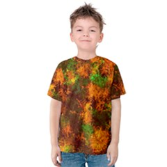 Squiggly Abstract F Kids  Cotton Tee by MoreColorsinLife