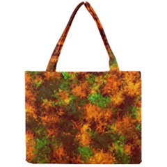 Squiggly Abstract F Mini Tote Bag by MoreColorsinLife