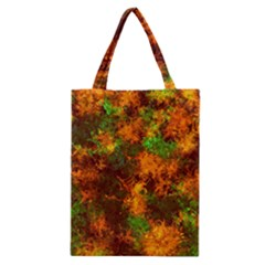 Squiggly Abstract F Classic Tote Bag by MoreColorsinLife
