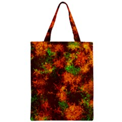 Squiggly Abstract F Zipper Classic Tote Bag by MoreColorsinLife