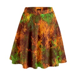 Squiggly Abstract F High Waist Skirt by MoreColorsinLife