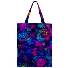 Squiggly Abstract E Zipper Classic Tote Bag by MoreColorsinLife