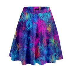 Squiggly Abstract E High Waist Skirt by MoreColorsinLife