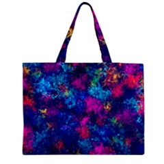 Squiggly Abstract E Zipper Medium Tote Bag by MoreColorsinLife