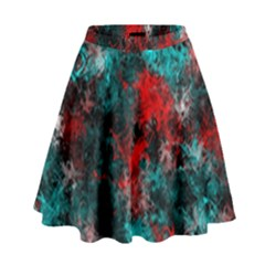Squiggly Abstract D High Waist Skirt by MoreColorsinLife