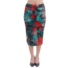 Squiggly Abstract D Midi Pencil Skirt by MoreColorsinLife
