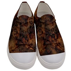 Wonderful Marbled Structure A Men s Low Top Canvas Sneakers