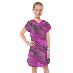 Wonderful Marbled Structure C Kids  Drop Waist Dress