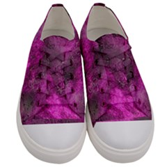 Wonderful Marbled Structure C Women s Low Top Canvas Sneakers