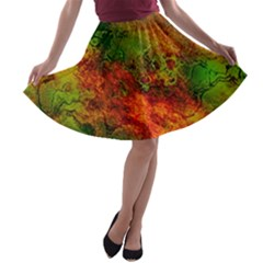 Wonderful Marbled Structure F A Line Skater Skirt by MoreColorsinLife