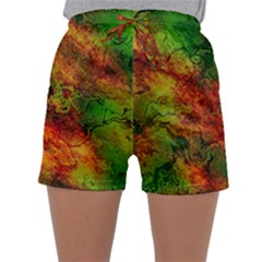 Wonderful Marbled Structure F Sleepwear Shorts