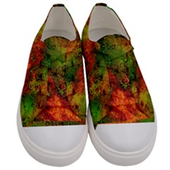 Wonderful Marbled Structure F Women s Low Top Canvas Sneakers