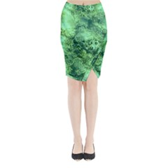 Wonderful Marbled Structure I Midi Wrap Pencil Skirt by MoreColorsinLife