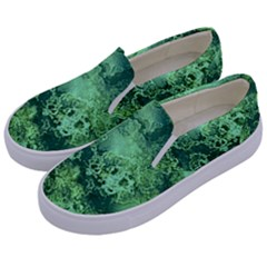 Wonderful Marbled Structure I Kids  Canvas Slip Ons by MoreColorsinLife