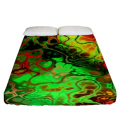 Awesome Fractal 35i Fitted Sheet (king Size) by MoreColorsinLife