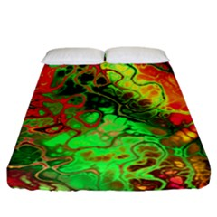 Awesome Fractal 35i Fitted Sheet (california King Size)