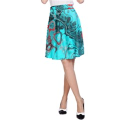 Awesome Fractal 35g A Line Skirt by MoreColorsinLife