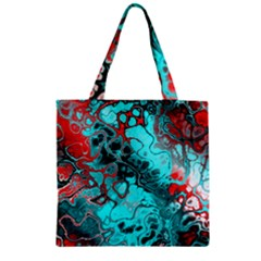 Awesome Fractal 35g Zipper Grocery Tote Bag by MoreColorsinLife