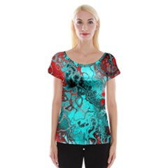 Awesome Fractal 35g Cap Sleeve Tops by MoreColorsinLife