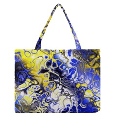 Awesome Fractal 35a Zipper Medium Tote Bag by MoreColorsinLife