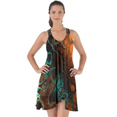 Awesome Fractal 35f Show Some Back Chiffon Dress by MoreColorsinLife