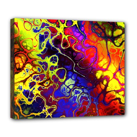 Awesome Fractal 35c Deluxe Canvas 24  X 20   by MoreColorsinLife