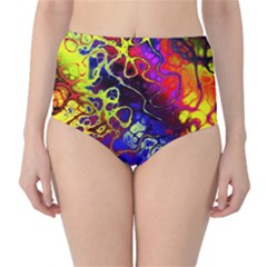 Awesome Fractal 35c High Waist Bikini Bottoms by MoreColorsinLife