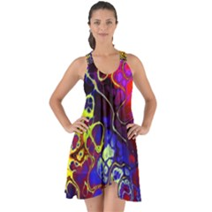 Awesome Fractal 35c Show Some Back Chiffon Dress