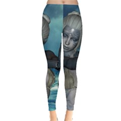 The Wonderful Water Fairy With Water Wings Leggings  by FantasyWorld7