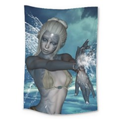 The Wonderful Water Fairy With Water Wings Large Tapestry by FantasyWorld7