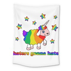 Unicorn Sheep Medium Tapestry by Valentinaart