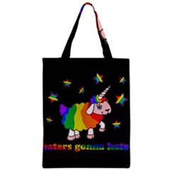 Unicorn Sheep Zipper Classic Tote Bag by Valentinaart