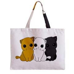 Cute Cats Zipper Mini Tote Bag by Valentinaart