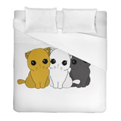 Cute Cats Duvet Cover (full/ Double Size) by Valentinaart