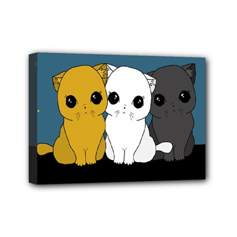 Cute Cats Mini Canvas 7  X 5  by Valentinaart