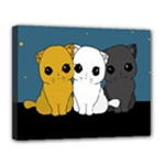 Cute cats Canvas 14  x 11