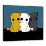 Cute cats Canvas 24  x 20