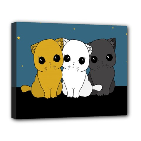 Cute Cats Deluxe Canvas 20  X 16   by Valentinaart