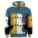 Cute cats Men s Zipper Hoodie