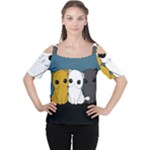 Cute cats Cutout Shoulder Tee