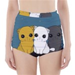 Cute cats High-Waisted Bikini Bottoms