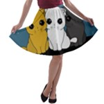 Cute cats A-line Skater Skirt