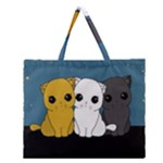 Cute cats Zipper Large Tote Bag
