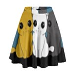 Cute cats High Waist Skirt