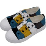 Cute cats Kids  Low Top Canvas Sneakers