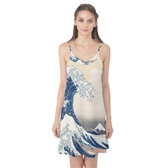 The Classic Japanese Great Wave Off Kanagawa By Hokusai Camis Nightgown by PodArtist