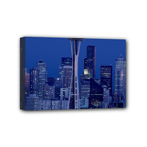 Space Needle Seattle Washington Mini Canvas 6  X 4