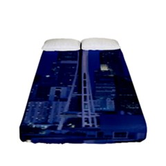 Space Needle Seattle Washington Fitted Sheet (full/ Double Size)