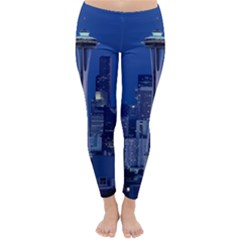 Space Needle Seattle Washington Classic Winter Leggings